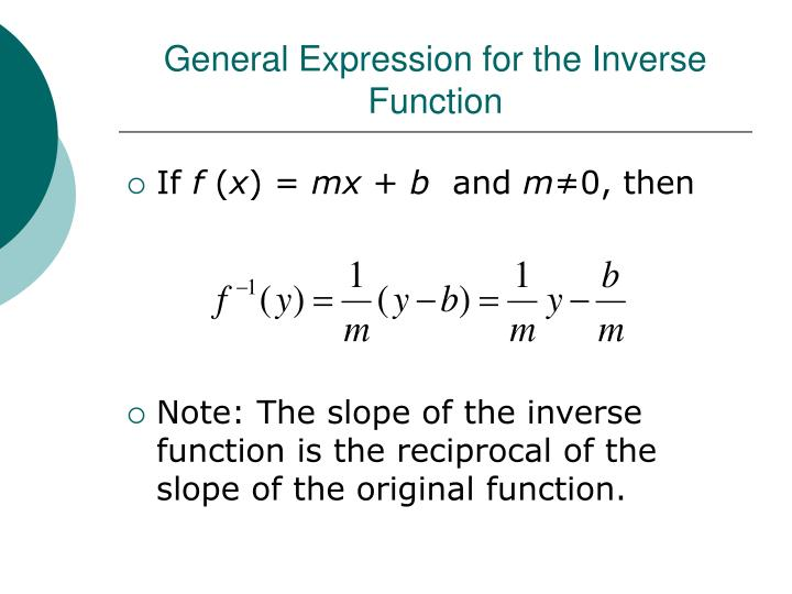 General Expression for the Inverse Function