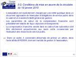 ii 2 conditions de mise en uvre de la circulaire du 18 janvier 2010