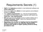 requirements secrets 1