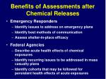 benefits of assessments after chemical releases1