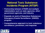 national toxic substance incidents program ntsip