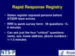 rapid response registry