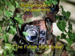 sustaining army development