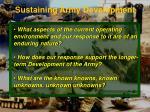 sustaining army development1