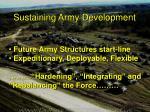 sustaining army development2