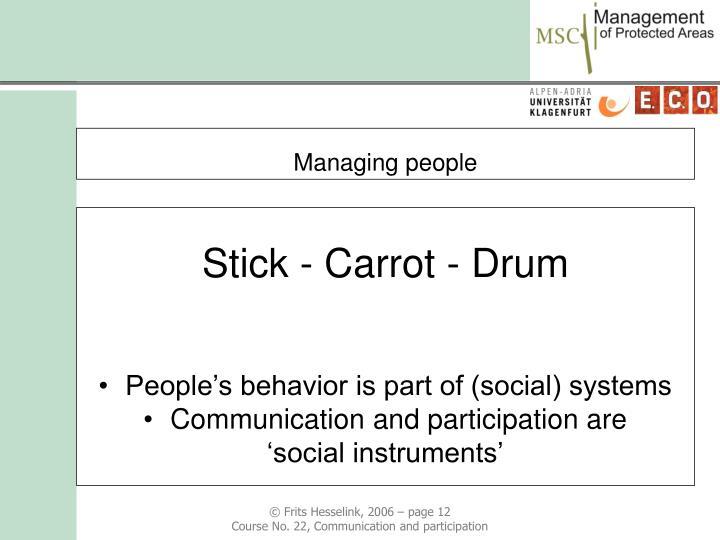 Stick - Carrot - Drum