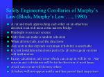 safety engineering corollaries of murphy s law block murphy s law 1980