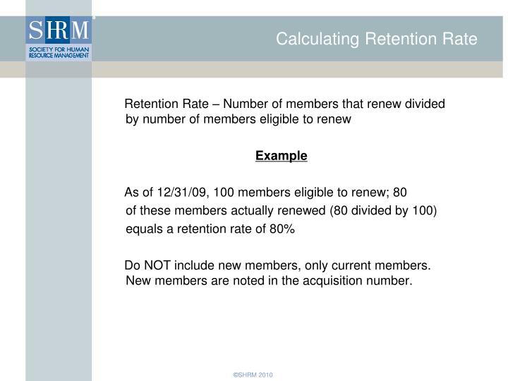 Calculating Retention Rate