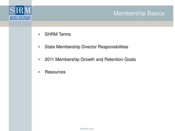 Membership Basics