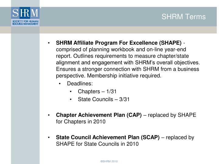 SHRM Terms