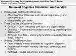 nature of cognitive disorders an overview