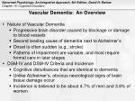 vascular dementia an overview