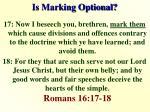 is marking optional1