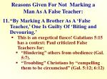 reasons given for not marking a man as a false teacher10