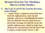 reasons given for not marking a man as a false teacher3