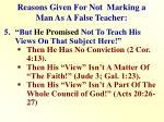 reasons given for not marking a man as a false teacher4