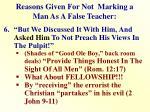 reasons given for not marking a man as a false teacher5
