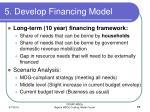 5 develop financing model