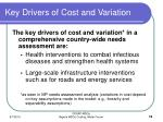 key drivers of cost and variation