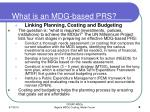 what is an mdg based prs