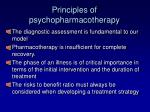 principles of psychopharmacotherapy