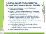 actualit s l gislatives et europ ennes le projet de loi de programme grenelle 1