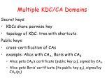 multiple kdc ca domains