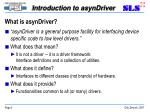 what is asyndriver