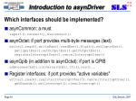 which interfaces should be implemented