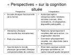 perspectives sur la cognition situ e