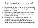 pour contruire un robot
