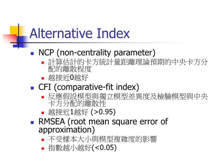 Alternative Index