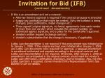 invitation for bid ifb continued amendments1
