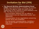 invitation for bid ifb continued1
