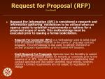request for proposal rfp continued