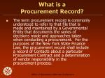 what is a procurement record
