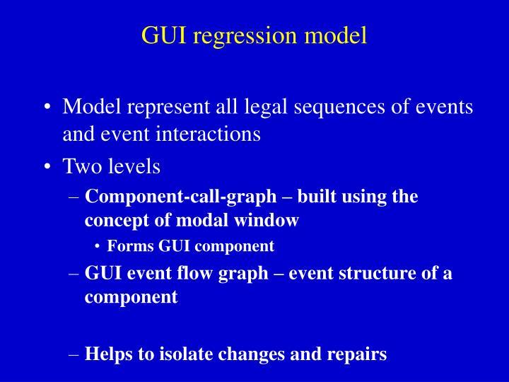 GUI regression model
