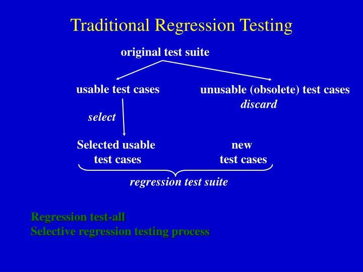 Traditional Regression Testing