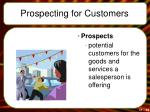 prospecting for customers