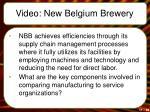 video new belgium brewery