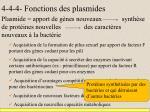 4 4 4 fonctions des plasmides