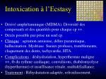 intoxication l ecstasy