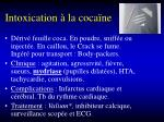 intoxication la coca ne