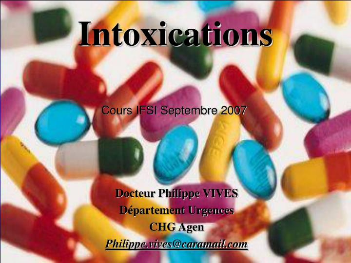 intoxications n.