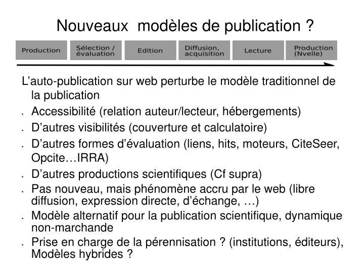 Nouveaux  modèles de publication ?