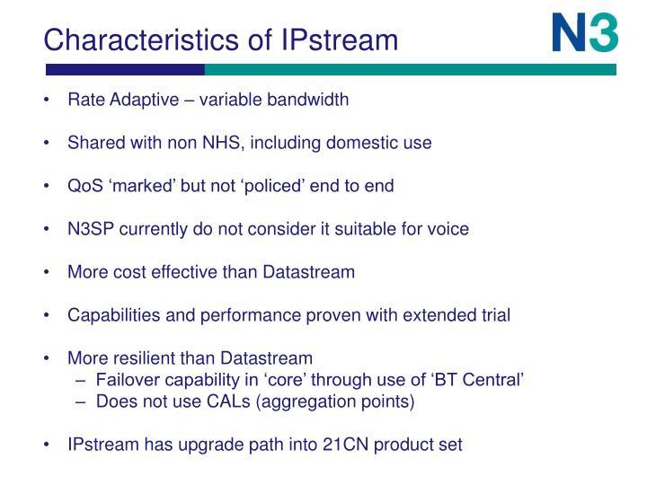 Characteristics of IPstream