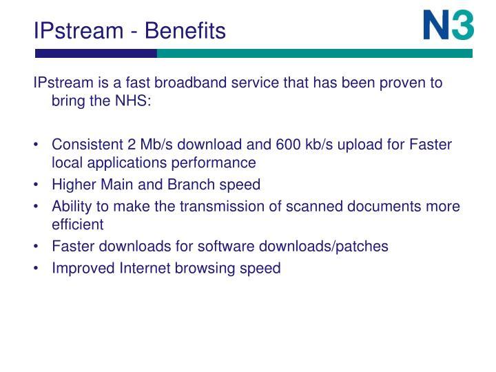 IPstream - Benefits
