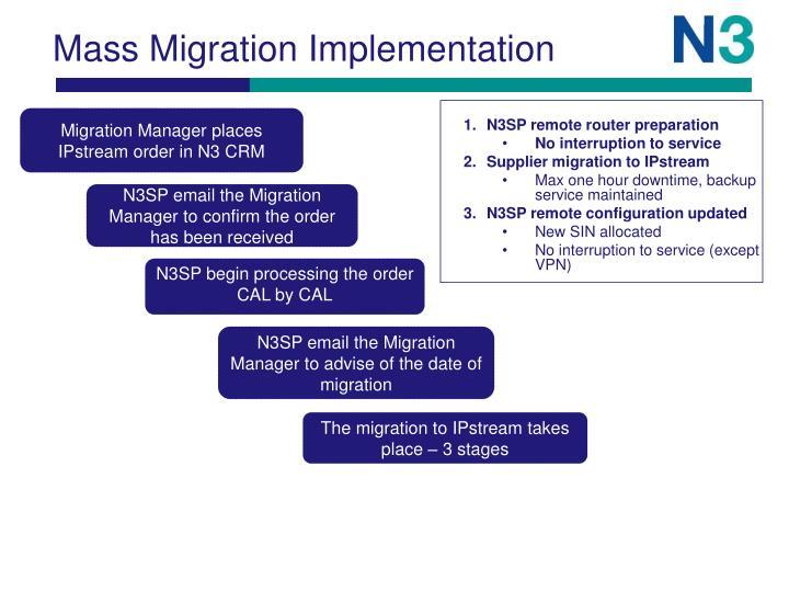 Mass Migration Implementation