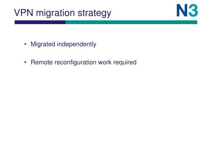 VPN migration strategy
