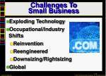 challenges to small business